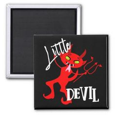 #Cute Little Red Devil Funny Graphic Magnet - #Halloween happy halloween #festival #party #holiday