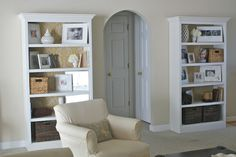 Hello Newman's!: living room - fabric shelves