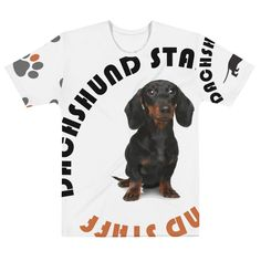 Dachshund Staff - Dad's BigPrint Tee – MyDogMyBubbles A fun tshirt for a Dachshund dog dad and Doxie dad. A great outfit gift to a dog lover. Dachshund Clothes, Dachshund Shirt, Dachshund Love, Create Shirts, Dog Clothing, Dog Wear, Dad To Be Shirts, Dog Gifts, Dog Mom