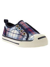 GapKids Plaid Slip-On Sneakers