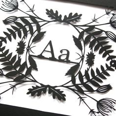 Image of Personalised Initial Paper Cut by Mr. Yen