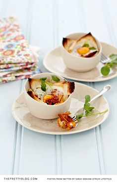 Breakfast Toast Pots by Sarah Graham What's For Breakfast, Breakfast Recipes, Quiches, Graham Recipe, Sarah Graham, Recipe Creator, Wine Recipes, Gourmet Recipes, Yummy Food