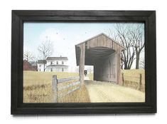 Covered bridge picture 'Old Millers Creek by BoggyCreekPrimitive #coveredbridge #amish