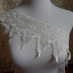 Items similar to 1 yard Venise feather lace trim in white for wedding, sashes, gown shoulder, headbands, costumes on Etsy Wedding Sash, Schmuck Design, Lace Trim, Bridal Dresses, Headbands, Doll Clothes, Feather, Jewelry Design, Gowns