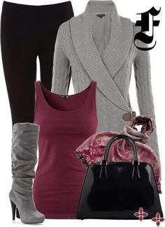 - black, grey & maroon