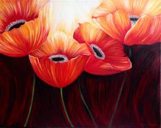"""Alive poppies"" Original painting on canvas by Elena Hajda Original Paintings, Acrylic Paintings, Art Paintings, Beautiful Flowers, Beautiful Things, Face Cleanser, Pictures To Paint, Flower Art, Poppies"