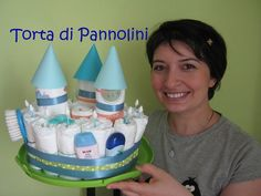 Torta di Pannolini: Castello! - facile DIY tutorial #tutorial #diy #faidate #mamme #tortadipannolini