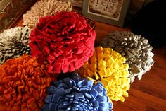 Pillows. Felt, crochet. Cooperation with Marilyn Piirsalu.