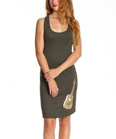 Look what I found on #zulily! Forest Guitar Tie-Strap Organic Dress - Women by Synergy Organic Clothing #zulilyfinds