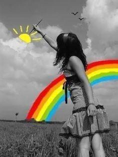 Color Splash, Color Pop, Street Photography, Art Photography, Posca Art, Middle School Art, Over The Rainbow, Art Plastique, Belle Photo