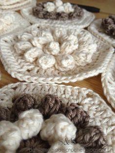 La Magia del Crochet: HEXÁGONOS POP CORN
