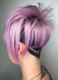 Short Hairstyles for Women: Geometric Undercut #shorthairstyles