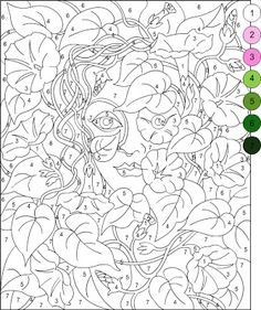 190 Best Coloring Images Paint By Number Color By Numbers