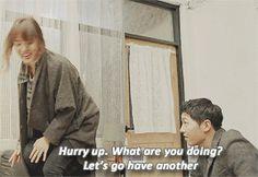 Drunk Dr. Kang Moyeon & Cpt. Yoo Shijin.gif