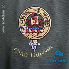 Duncan Clan Crest Embroidered Polo. Free worldwide shipping available