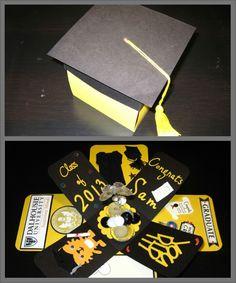 Graduation explosion box card