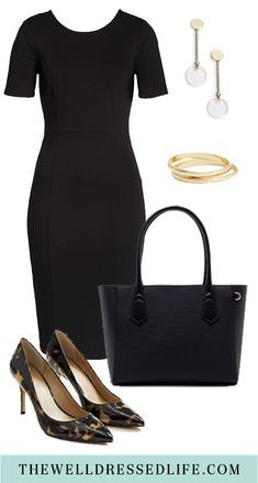 An easy sheath dress for work takes to from meetings to dinner without having to change a thing. dresses for work Wear to Work: Classic Short Sleeve Sheath Fashion Over 40, Work Fashion, Classic Fashion, Fashion 101, Curvy Fashion, Street Fashion, Fall Fashion, Business Casual Outfits, Business Attire