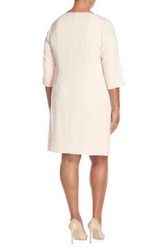 Main Image - Eliza J Pocket Detail Shift Dress (Plus Size)