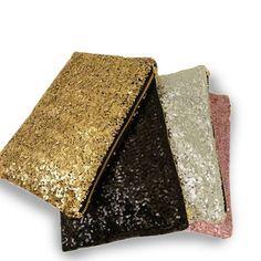 Glitterati Glam Clutch Sequins In 4 Colors