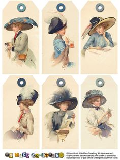 Vintage Lady Tags ~ Great site for free printables