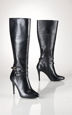 Stivali stile equestre in vacchetta - Lauren Scarpe - Ralph Lauren France  Beeeellloooooo! 2145fb4b0b36