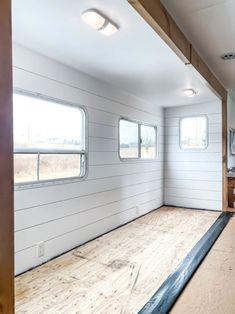 Installing Camper Flooring - The Happy Glamper Co. Camper Rental, Diy Camper, Camper Life, Camper Ideas, Rv Life, Camper Flooring, Travel Trailer Remodel, Trailer Diy, Rv Trailers