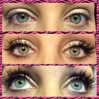 Before & After with 3D Fiber Lashes Mascara. $29 for a 2-3 month supply at www.butterflykissesmakeup.com