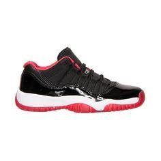 Boys' Grade School Air Jordan Retro 11 Low Basketball Shoes ❤ liked on Polyvore featuring jordans, shoes and jordan 11