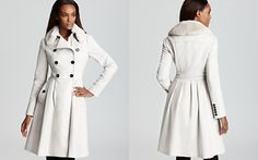 WANT!  Burberry London Coat - Knightsley Fur Collar Double Breasted