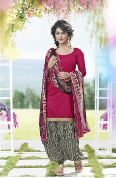 Buy Taking Pink Patiala Salwar Kameez online at  https://www.a1designerwear.com/taking-pink-patiala-salwar-kameez  Price: $22.38 USD