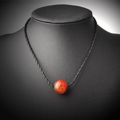 Free Shipping 2016 New Simple Fashion Natural Agate Clavicle Necklace Red Natural Stone Pendant For Girl Women JMN-16019