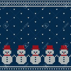 Illustration of Winter Holiday Seamless Pattern vector art, clipart and stock vectors. Christmas Knitting Patterns, Christmas Embroidery, Baby Knitting Patterns, Knitting Designs, Cross Stitch Borders, Cross Stitch Charts, Cross Stitch Designs, Cross Stitch Patterns, Knitting Charts