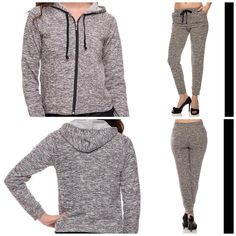 www.holyadornment.com #Missy #PlusSize #Peppered #Melange #Black #Heather #Knit #Tracksuit #LongSleeve #ZipUp #Hoodie #Drawstring #SlimFit #Jogger #Pants 50% Percent Off Clearance Rack In-Store Only  #50Percent #ClearanceRack #InStoreOnly