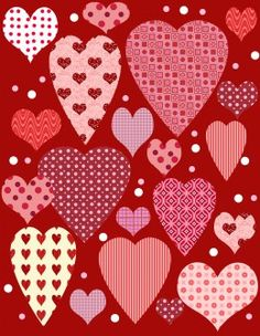 valentine hearts to color
