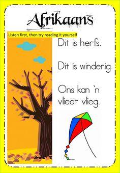 First Grade Math Worksheets, Phonics Worksheets, Preschool Learning, Preschool Activities, Afrikaans Language, Reading Help, Teachers Aide, School Subjects, Grade 2