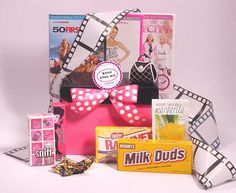 Chick Flick Kit~movie night party favor