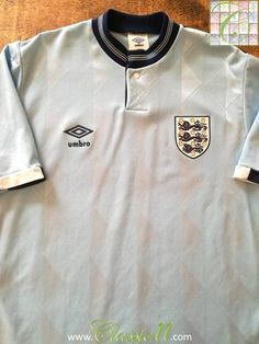 dcebfcf5fed Official Umbro England 3rd kit football shirt from the 1987 88 season.  England Football
