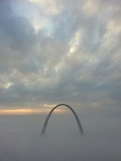 The beautiful St. Louis Arch on the foggy morning of Oct. 30, 2013.