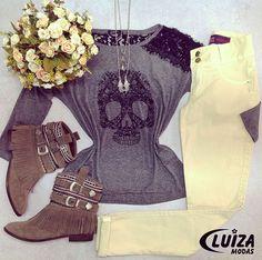 #tendencia #outonoinverno #luizamodas #tshirt #moda #fashion #estilo