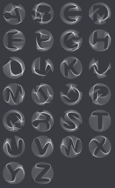 An experiment in 3D letterforms by Letters are my Friends. Read more about it on the Co.Design blog.