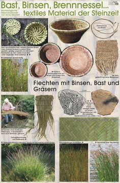 Textiles Material der Steinzeit (from the stone age)
