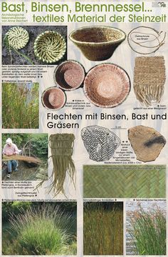 Textiles Material der Steinzeit (from the stone age)