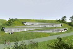 Museum of Vučedol Culture by Radionica Arhitekture Home Architecture Styles, Museum Architecture, School Architecture, Landscape Architecture Model, Sustainable Architecture, Architecture Design, Architectural Section, Architectural Prints, Architectural Presentation