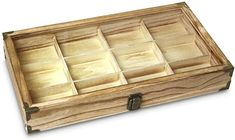 Amazon.com: Ikee Design Wooden Jewelry Storage Tray Box with a Glass Lid, 12 Compartments: Arts, Crafts & Sewing Jewelry Tray, Jewelry Storage, Wooden Jewelry, Rock Box, Wooden Boxes, Storage Chest, Sewing Crafts, Decorative Boxes, Jewelry Design