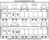 Skip counting by 2 and 5 - Free printable worksheets - Worksheetfun