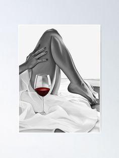 red wine 3 by smARTwork Black Love Art, Black Girl Art, Art Girl, Boudoir Photos, Boudoir Photography, Portrait Photography, Art Du Vin, Transférer Des Photos, Wine Painting