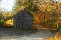 Beautiful fall picture with old barn. Autumn Pictures, Old Bridges, Autumn Painting, Old Barns, Old Houses, Beautiful Pictures, Feelings, House Styles, Board