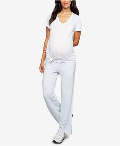 17fa436f739aa A Pea in the Pod Maternity Pajama Pants Maternity Pajamas, Polyester  Spandex, White Jeans