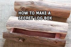 How To Make A Secret Log Box - Ever wanted something bigger than a hidey key rock that could effectively hide a medium sized object like a weapon, cash or other valuables? This may be your solution.