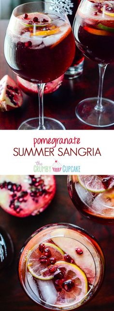 Pomegranate Summer Sangria | Celebrate the warmth of the season with this deep yet refreshing summer sangria, bursting with citrus, dark rum, full red wine, & PAMA Pomegranate Liqueur! #PAMACelebrateSummer #sponsored